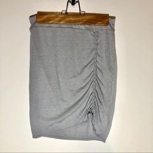 Free People Gray Cotton Skirt Size S